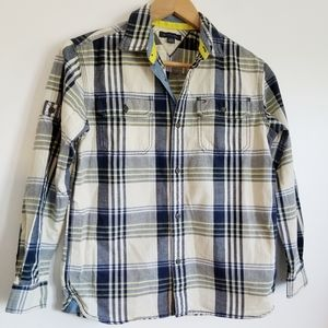 Tommy Hilfiger boys plaid button down shirt